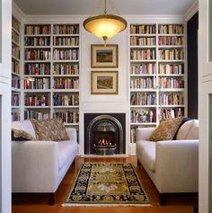 reading room decor inspiration to make you cozy 00015 Home Design, Home Library Design, Design Ideas, Diy Design, Creative Design, Style At Home, Living Room Designs, Living Room Decor, Living Room No Tv
