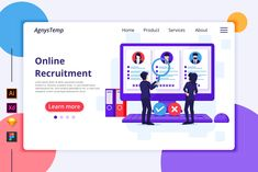 Agnytemp - Recruitment Illustration - Flat vector illustration.
