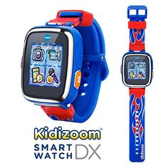 VTech Kidizoom Smartwatch DX - Special Edition - Red Flame with Bonus Royal Blue Wristband