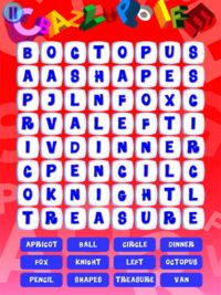 Wee Kids Wordsearch  Wee Kids WORDSEARCH is an educational game for children. Practice searching for words hidden in the grids This super-classic words game helps kids in words recognition, improves reading skills and helps memorizing the spelling.    ***and more... Change the language settings of your device and learn with Wee Kids WORDSEARCH in Italian, French, Spanish, Portuguese, German and Russian.