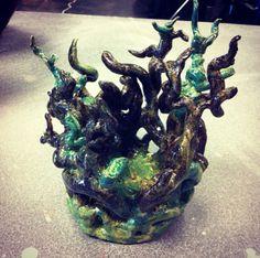 High school ceramics: Unconventional Coils