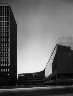 Y-building Oslo : Y-blokka - e-architect School Architecture, Art And Architecture, Oslo, Norway Design, National History, Exposed Concrete, Cube Design, Building A Website, Le Corbusier