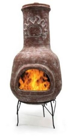 outdoor portable clay fire chimney   What is a Chimenea - Outdoor Fireplaces and Fire Pits