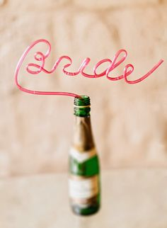 'Bride' Straw - perfect for the morning of your wedding or your bachelorette party! | Facibeni Fotografia | Bridal Musings Wedding Blog