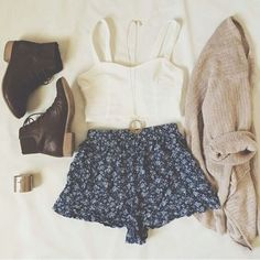 Shorts + top