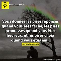You give the worst answers when you are angry, the worst promises when you are happy, and the worst choices when you are hurting. Some Quotes, Best Quotes, Good To Know, Did You Know, Low Mood, Quote Citation, Life Rules, French Quotes, Thing 1