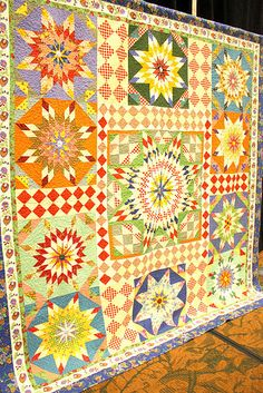 """(P) Fabulous """"Edy's Quilt"""" by Sandy Klop Photo by Amy Smart. Pattern available here: http://americanjane.com/patterns.php"""