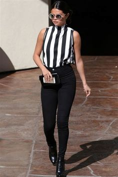 Selena Gomez's best fashion moments (boy, has she upped the ante!) Selena Gomez's style revolution Selena Gomez Fashion, Selena Gomez Outfits, Style Selena Gomez, Teen Vogue, Cool Outfits, Casual Outfits, Fashion Outfits, Boy Fashion, Her Style