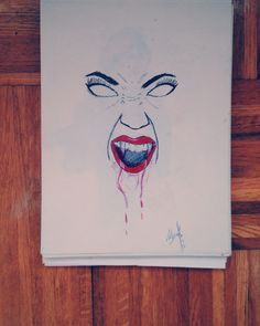 #illustration #blood #vampiro #scary done by me.