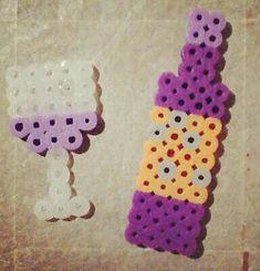 Wine hama perler beads
