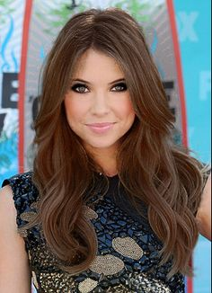 Brown Ashley Benson! This could be next hair color ahhh