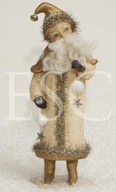 Beautiful vintage Saint Nicholas by Nicole Sayre. Old Time Christmas, German Christmas, Christmas Makes, Christmas Past, Victorian Christmas, Father Christmas, Country Christmas, Vintage Christmas, Christmas Holidays