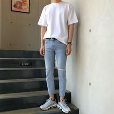 Fashion 2019 New Moda Style - fashion Korean Fashion Men, Korean Street Fashion, Korea Fashion, Kpop Fashion, Fashion Outfits, Retro Outfits, Korean Outfits, Trendy Outfits, Aesthetic Fashion