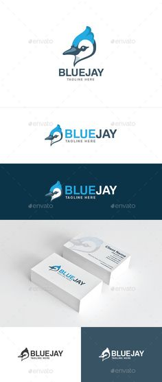Blue Jay Logo Design Template Vector #logotype Download it here: http://graphicriver.net/item/blue-jay/10510921?s_rank=1319?ref=nexion