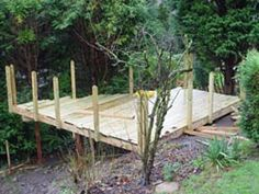 Bottom deck is now near finished with deck boards laid