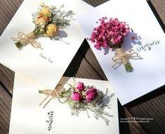 안녕하세요. 오후햇살입니다. 요즘 드라이플라워 매력에 퐁당 빠져버렸답니다. 이번에 만나본 제품은 너무... Flower Boxes, Flower Frame, Flower Cards, Dried Flowers, Paper Flowers, Diy And Crafts, Paper Crafts, Gift Wraping, Flower Packaging