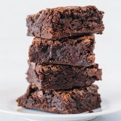 These are the BEST brownies I've ever made. Rich, dark, and sooo decadent!