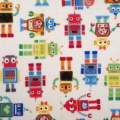 Tela FQ :: robots :: de nosgustanlosretros por DaWanda.com