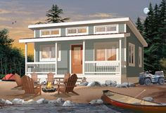 House Plan 76166 | Cabin Vacation Plan with 480 Sq. Ft., 2 Bedrooms, 1 Bathrooms at family home plans