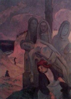Paul Gauguin. Christ vert. 1889. D'apres le calvaire de Nizon-Pont Aven