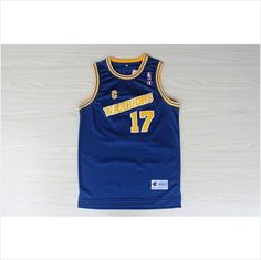 Mens Golden State Warriors Chris Mullin 17 Blue Authentic NBA Basketball Jersey