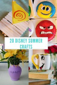 Disney Summer Crafts - Easy DIY Disney crafts for kids and adults!  - Kreative in Life