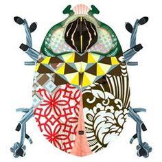 Miho Beetle John décoration murale étagère secrète scarabée MIHO