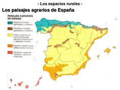Mapa de los paisajes agrarios en España.