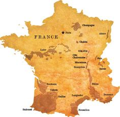 Mapa del vino de Francia