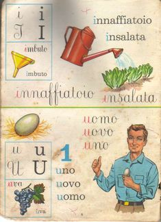 Italian Alphabet, Italian Lessons, Language Study, Vintage School, Italian Language, Graphic Quotes, Learning Italian, Bnf, Letters And Numbers