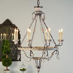 Provence Crown and Tassel Chandelier - 8 Lt.