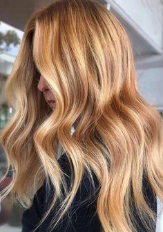 Strawberry Blonde Bayalage, Natural Strawberry Blonde Hair, Caramel Blonde Hair, Red Blonde Hair, Natural Red Hair, Blonde Roots, Pelo Natural, Brunette Hair, Red Bayalage