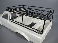 Metal Contractor Roof Rack for Tamiya RC Toyota Hilux Pick up Trail Truck For Vehicle Type - Truck, Fuel Source - Electric, For Vehicle Scale - Compatible Scale - Truck Roof Rack, Truck Bed, Toyota Hilux, Camping Jeep, Accessoires 4x4, Welding Trailer, T3 Doka, Navara D40, Off Road Bumpers
