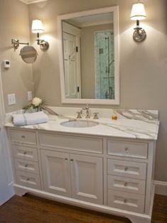 Elegant White Bathroom Cabinets Ideas (35)