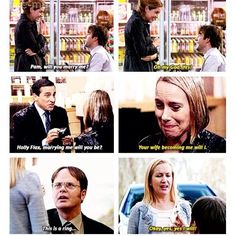 the office proposals :] The post the office proposals :) appeared first on Office Memes. Parks N Rec, Parks And Recreation, The Office Show, The Office Love Quotes, The Office Fun Run, The Office Dwight, Office Jokes, Funny Office, Collateral Beauty