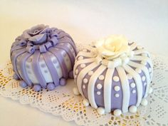 Purple & White Mini Cakes