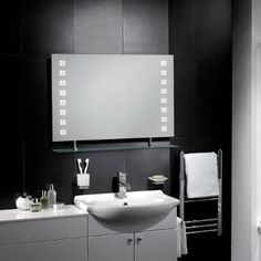 Florence LED Mirror - http://www.pebblegrey.co.uk/easter-sale/easter-sale-mirrors/products-illuminated-mirrors-florence.htm