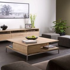 Square Oak Coffee Table - Ligna