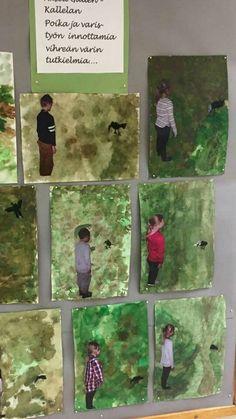 Johanna Nousiainen/ FB, al-ku-o-pet-ta-jat - Beste Art Pins Early Childhood Education, Art School, Art Education, Art Lessons, Art For Kids, Art Projects, Pets, Drawings, Painting