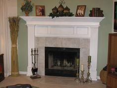 Classic Fireplace Mantel Designs Ideas — Joanne Homes Corner Fireplace Mantels, Marble Fireplace Mantel, Fireplace Mantel Surrounds, Living Room With Fireplace, Fireplace Design, Concrete Fireplace, Fireplace Redo, Mantel Shelf, Fireplace Ideas