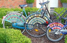 crochet for bikes, don't think I would actually make this but it's cute