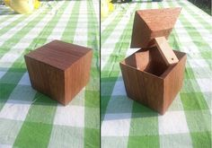 Mahogany Puzzlebox #woodworking #secret_compartment