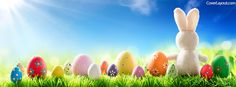 Easter Bunny Eggs Facebook Cover coverlayout.com