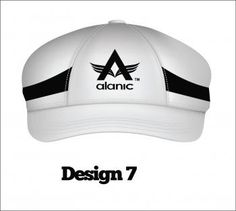 Classic white color cricket baggy cap.