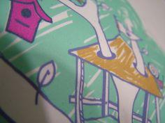 detalle, estampado textil en prenda abierta