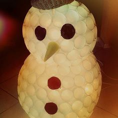 mein verzauberten mann schneemann plastikbecher gl hweinbecher basteln sparkleball snowmen. Black Bedroom Furniture Sets. Home Design Ideas