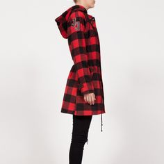 Parka BILL Parka, Plaid, Jackets, Shirts, Women, Style, Fashion, Wraps, Purses
