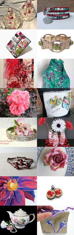 Many Colors Of Flowers  by Elsie's Creative Designs by Lisa Cook on Etsy--Pinned+with+TreasuryPin.com