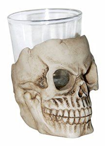 Add a fun touch to your barware this Halloween with our skull shot glass!