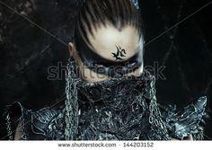 Portrait of beautiful warrior girl